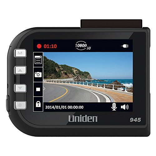 Uniden DC4, 1080p Full HD Dash Cam, 2.4″ LCD, G-sensor with collision detection, loop recording, 148-degree wide angle lens, Lane Departure Warning, 8GB micro SD card included (Certified Refurbished)