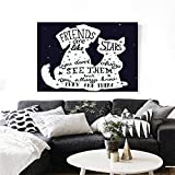 Best Are Like Stars Wall Stickers - Dog Canvas Wall Art Friends are Like Stars Review