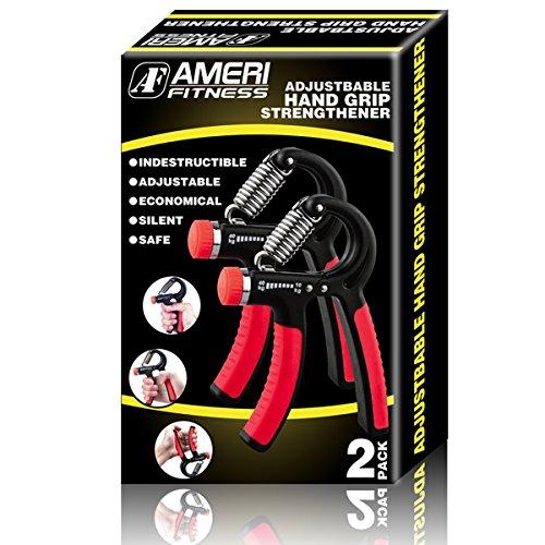 Ameri Fitness Hand Grip Strengthener Strength, [Set of 2] Increasing Hand Wrist Forearm Trainer Exerciser; Adjustable Resistance (22~88 Lbs); Non-Slip Gripper by Ameri Fitness (Image #7)