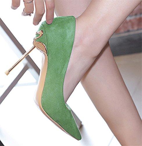 3 A CLOVER Nozze Ragazze Alti Sexy Green Donne A Scarpe Spillo Sposa Tacchi LUCKY Danzanti Sandali Da Colori Di Regina Oro EU43 Tacchi Festa RdZPw4x