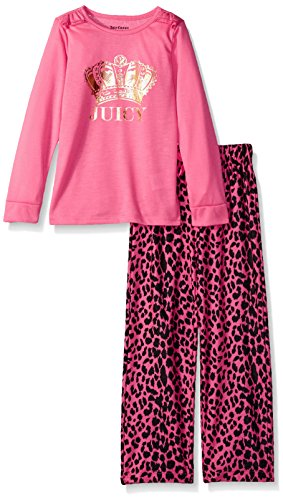 Juicy Couture Little Girls' 2 Pieces Pajama Set, Hot Pink, 6