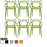 Cheap 2xhome – Set of 2 , Modern Contemporary Louis XIV Dining Chair Armchair Ghost Style Ghost Chair with Arms Ghost Arm Chair in Clear Transparent Crystal Stackable Stacking Made From Polycarbonate
