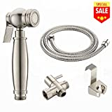VESLA HOME Stainless Steel Brushed Nickel Cloth Diaper Sprayer Kit By Easy Giggles -Handheld Bidet Sprayer Shattaf Cloth Diaper Sprayer for Toilet Attachment - Cleans Baby Cloth Diapers Easily With Wa