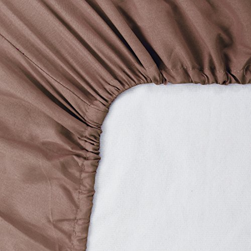 uxcell Twin Size Fitted Sheet Only, 200 Thread Count 100% Cotton Fitted Bed Sheet with 15