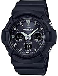 Casio GAS100B-1A G-Shock Tough Solar Mens Watch Black 55.1mm Resin/Aluminum case