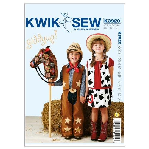 Kwik Sew K3920 Giddyup Chaps Sewing Pattern, (Cowboy Vest Pattern)