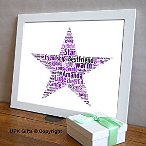 special teacher personalised print gift word art with free frame mothers day mum star best friend easter teacher thank you school winner mumdad