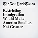 Restricting Immigration Would Make America Smaller, Not Greater | Eduardo Porter