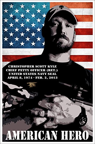 Chris Kyle Poster 29x44 Navy Seal Craft American Sniper Legend Punisher Usmc Military