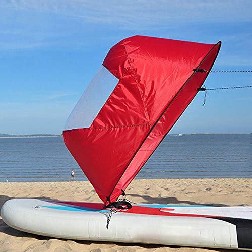 YWEHAPPY Lightweight 42″/108cm Kayak Rowing Boat Foldable Wind Sail Canoe Sup Paddle Board with Clear Window Drifting Boating Accessory