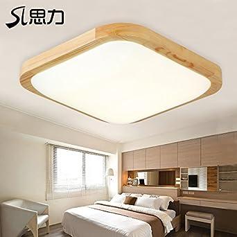 CHJK BRIHT Massivholz Decken Leuchte leuchten Schlafzimmer ...