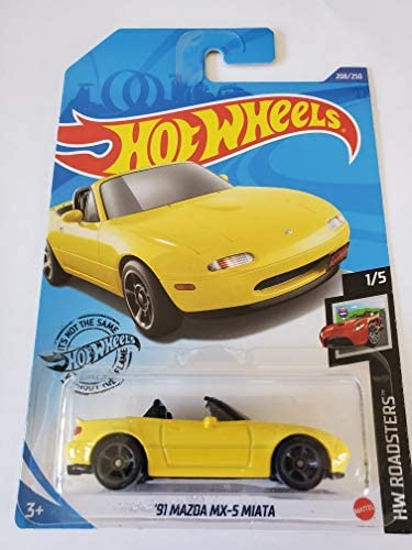 2020 Hot Wheels /'91 Mazda MX-5 Miata 1:64 1//64 HW Roadsters 1//5 Yellow