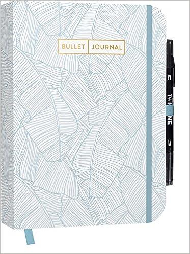 Bullet Journal: Mit Punkteraster praktischem Verschlussband und Innentasche Key und Future Log sowie .. Seiten f/ür Index