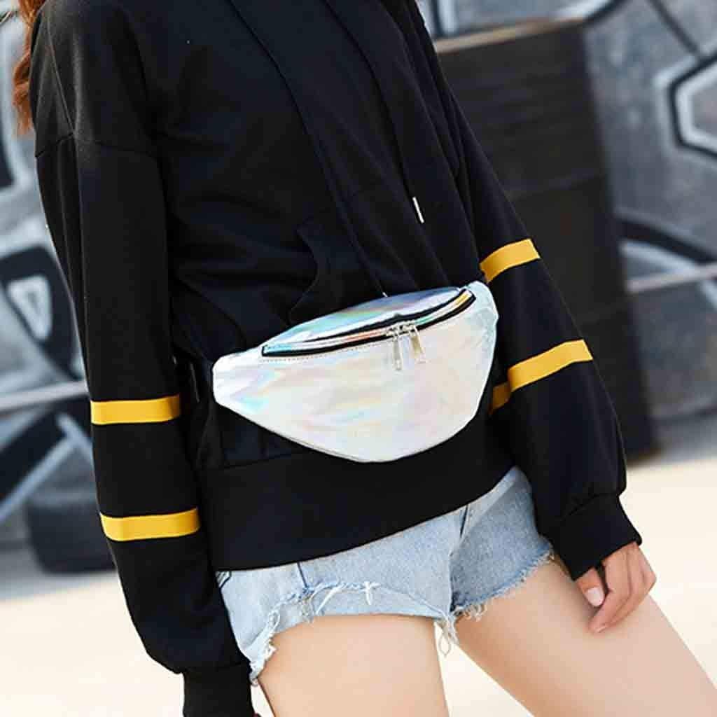 Danhjin Men Women Fashion Casual PU External Frame Solid Zipper Closure Dumplings Shape Messenger Crossbody Bag Chest Bag by Danhjin (Image #5)