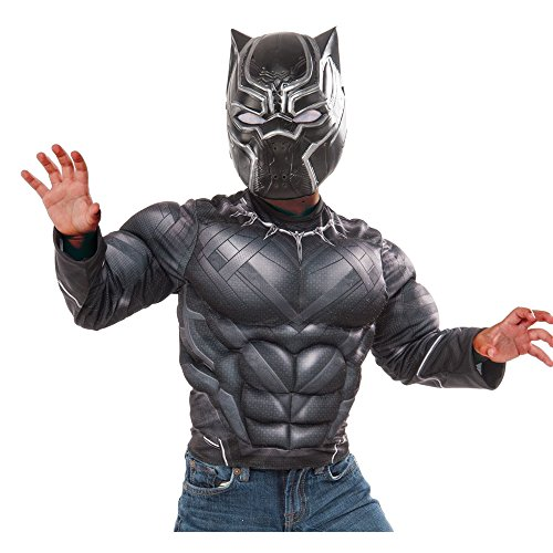 Marvel Captain America: Civil War Black Panther Muscle Chest Shirt and Mask, Child's -