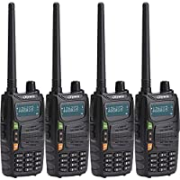 Olywiz 710 Two Way Radio Professional Walkie talkie High/Low Power Switchable (0.5-5W) 128 channels Amateur (Ham) Portable Rechargeable 4 Pack