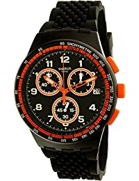 Swatch Men's Nerolino SUSB408 Black Rubber Swiss Quartz Watch