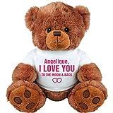 Angelique, I Love You To The Moon & Back: Medium Plush Teddy Bear