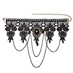 FASHEWELRY Choker Lace Necklace Gothic Vintage Necklace Pendant Wedding Party Jewelry 7