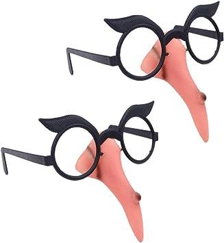 Amosfun Disfraces de Bruja de Halloween Gafas Disfraz de Bruja con ...