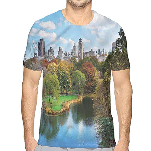 t Shirt New York,Central Park Autumn Printed t Shirt M