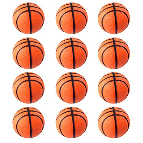 Mini Sports Balls for Kids Party Favor Toy, Soccer Ball, Basketball, Football, Baseball (12 Pack) Squeeze Foam for Stress, Anxiety Relief, Relaxation. (12 Pack (Basketballs)) for $<!--$9.25-->