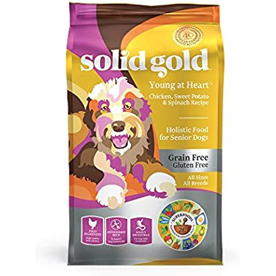 Solid Gold - Young at Heart with Real Chicken - Grain-Free - Antioxidant Rich - Dry Dog Food Seniors with Sensitive Stomachs