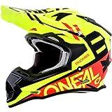 O'Neal 2SERIES Unisex-Adult Off-Road-Helmet-Style SPYDE Helmet (Black/Red/Hi-Viz, Medium)