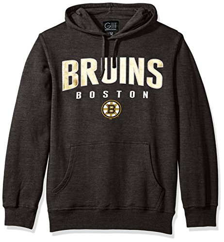 Fleece Boston Bruins Pullover - NHL Boston Bruins Men's The Rookie Pullover Fleece Hoodie, X-Large, Charcoal