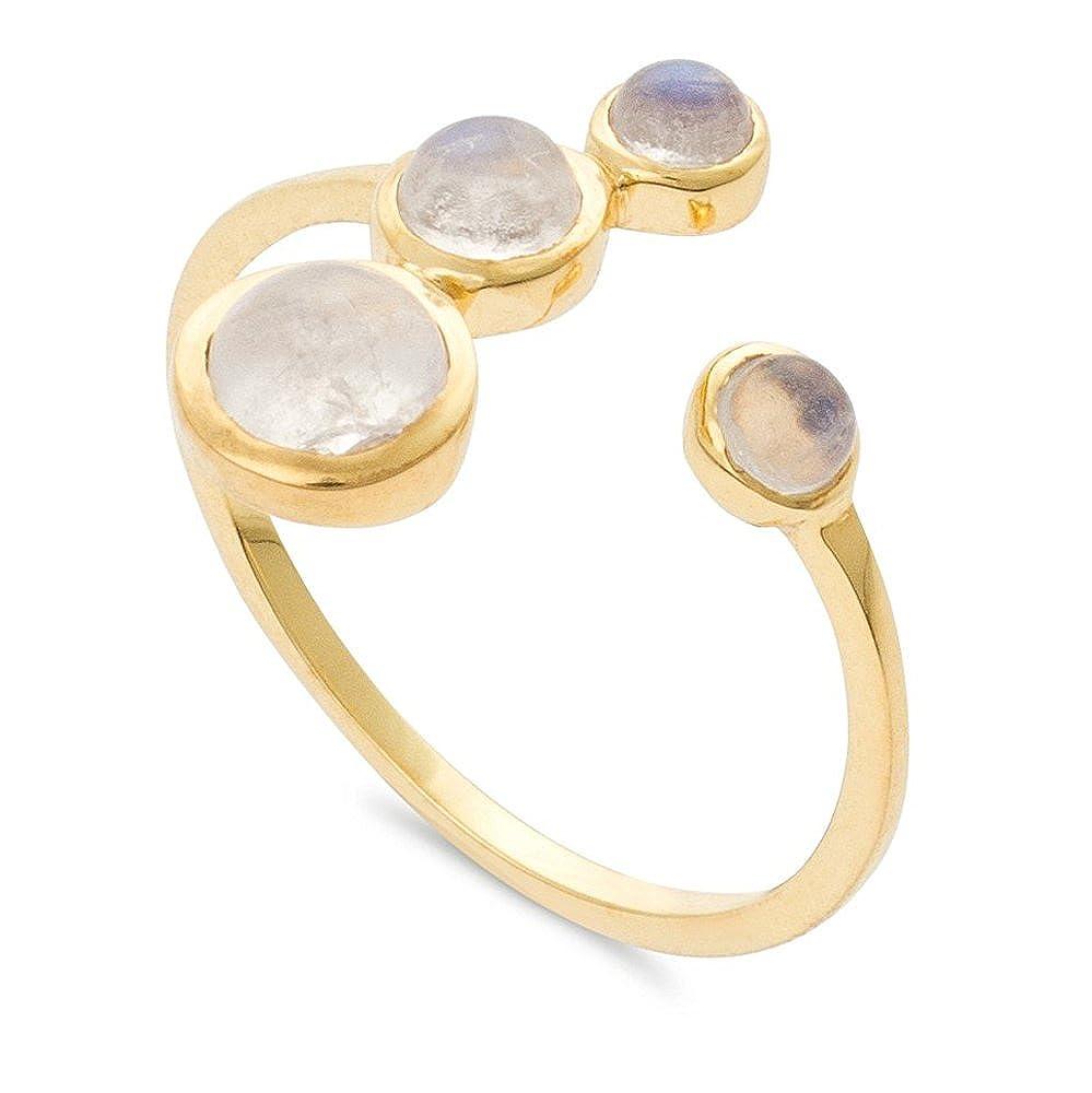 Nathis White Rainbow Moonstone/Ring