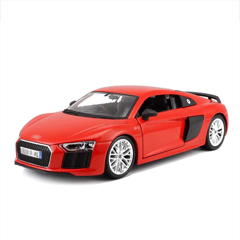 DUWEN-Modello di auto Audi R8 Modello di Auto Sportiva in Lega 1 24 Modello di Auto in Lega di Auto Decorazione Regalo (colore   Red)