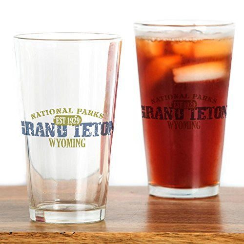CafePress Grand Teton National Park Wyo Pint Glass, 16 oz. Drinking Glass