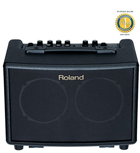 Roland AC-33 Acoustic Chorus Guitar Amplifier Black with 1 Year Free Extended (90 Acoustic Chorus Guitar Amplifier)