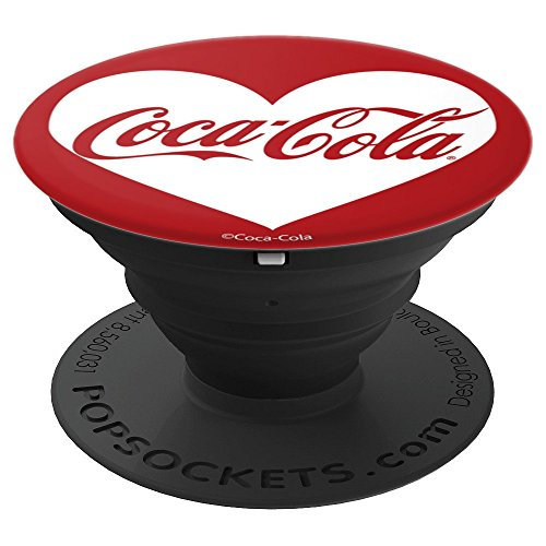 Coca-Cola White Heart Original Vintage Logo - PopSockets Grip and Stand for Phones and Tablets