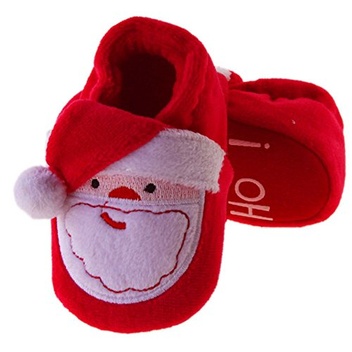 Childrens Christmas Slippers - Baby Christmas Boots Slipper Shoes Infant