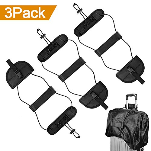Carry On Baggage (ONSON Bag Bungee, 3Pack Luggage Straps Suitcase Adjustable Belt Carry On Bungee Travel Accessories, Lightweight and Durable, Providing A Big Space for Trip)