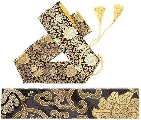 51/Seda Bolsa de Espada Katana Wakizashi Tanto japon/és Samurai Espada Bolsa de Transporte con Borla de Oro