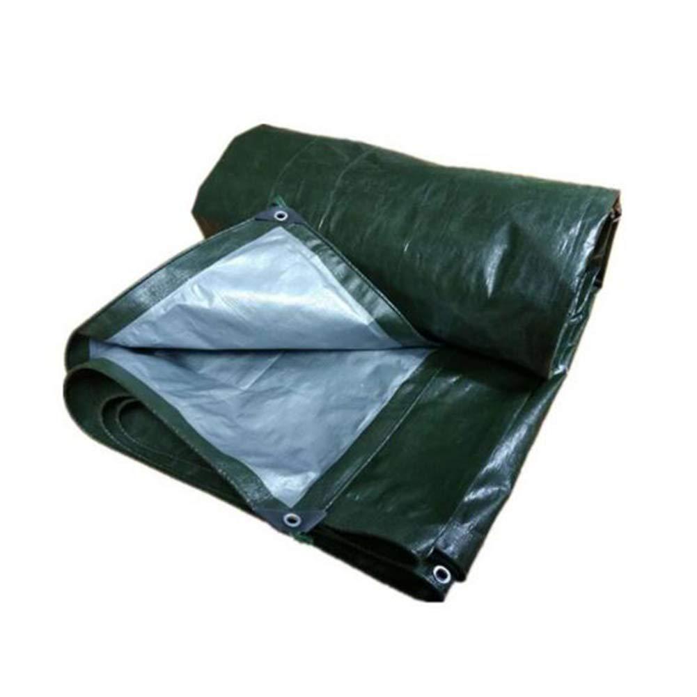 Dall telone Antipioggia Panno Impermeabile Tarp Protezione Solare Parasole Antigelo (colore   verde, Dimensioni   4×6m)