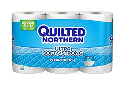 Quilted Northern Ultra Soft and Strong Toilet Paper, Bath Tissue, 6 Double Rolls