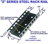 12U steel server rack rail with 3/8'' square holes, 2U-45U, (Z12U) Starcase.com