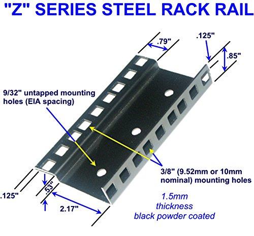 12U steel server rack rail with 3/8