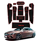 Fting Compatible with Mercedes B-e-n-z A-Class W177 V177 2018 2019 Anti Slip Door Groove Gate Slot Pad Mat Kit Car Interior Water Cup Storage Box Non-Slip Mat Rubber Mat Non-Slip Mats