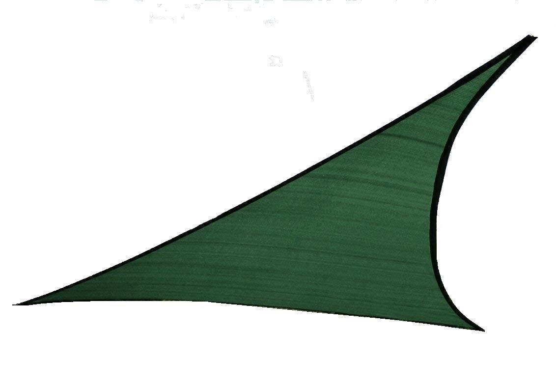 Tende a vela Kookaburra per feste- Triangolare 3, 6 m Verde Traspirante Intrecciata (185g)