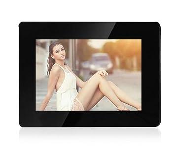 L&R Marcos digitales Marco de fotos digital 8 pulgadas de alta resolución con pantalla grande formato