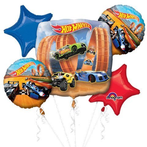 Anagram Hot Wheels Racer Bouquet of Balloons