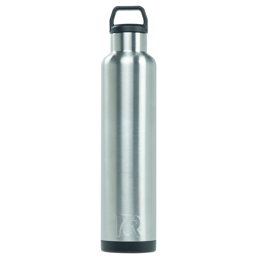 RTIC Double Wall Vacuum Insulated Stainless Steel Leak Proof Sports Water Bottle, Standard Mouth with BPA Free Cap (Stainless Steel, 26oz)