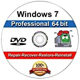 Image of Windows 7 Professional 64-Bit Install | Boot | Recovery | Restore DVD Disc Disk Perfect for Install or Reinstall of Windows