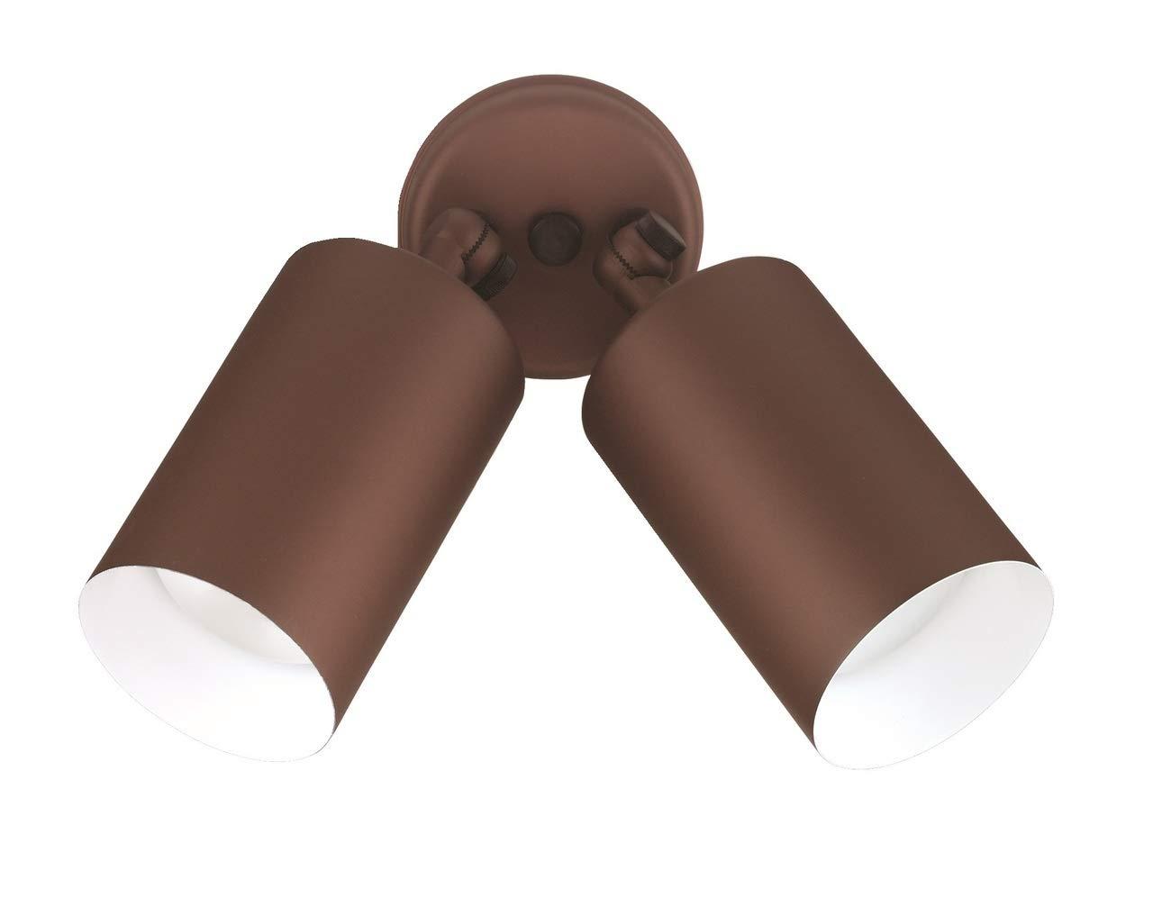 NICOR Lighting 75-Watt Double Bullet Adjustable Flood Light, Bronze (11728)