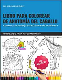 Libro para colorear de anatomía del caballo - Cuaderno de trabajo para colorear de veterinaria - Optimizado para autoevaluación: Libro para colorear ... estudiantes de veterinaria. Regalos, Presenta