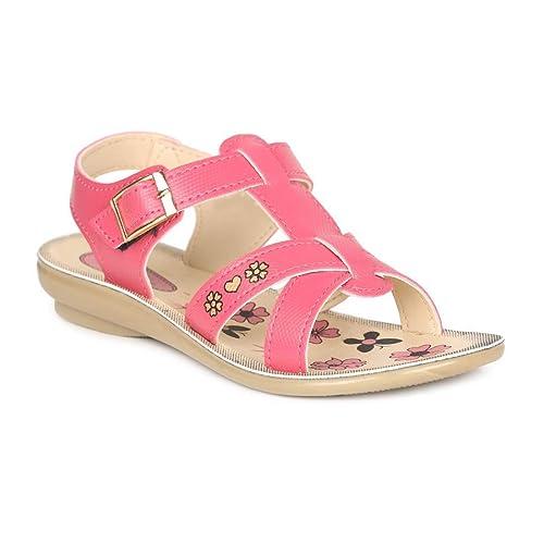 Pink Outdoor Sandals-11 Kids UK